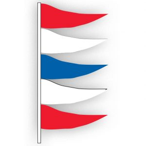 Red, White, & Blue Antenna Pennants