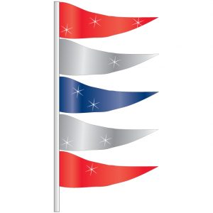 Metallic Antenna Pennants