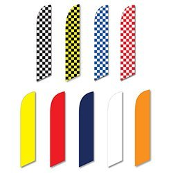 Swooper Banners - Solid / Checkered